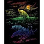 "Royal & Langnickel® Engraving Art Engraving Art Set Rainbow Foil Dolphin Reef: 8"" x 10"", Multi, (model RAIN25), price per set"