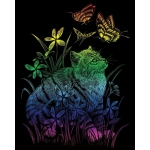 "Royal & Langnickel® Engraving Art Engraving Art Set Rainbow Foil Kitten & Butterfly: 8"" x 10"", Multi, (model RAIN26), price per set"