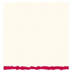 "Strathmore® 5 x 6.875 White/Red Deckle Creative Cards 20-Pack; Color: Red/Pink, White/Ivory; Envelope Included: Yes; Format: Card; Quantity: 20 Cards; Size: 5"" x 6 7/8""; Weight: 80 lb; (model ST105-42), price per 20 Cards"