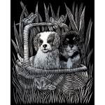 "Royal & Langnickel® Engraving Art Engraving Art Set Silver Foil Spaniels: 8"" x 10"", Metallic, (model SILF42), price per set"