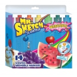 Mr. Sketch® 14-Color Scented Washable Marker Set; Color: Various; Ink Type: Water-Based; Refillable: No; Tip Type: Chisel Nib; Type: Scented Marker, Washable; (model SN1924061), price per set