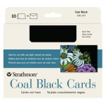 "Strathmore® Artagain® Full Size Cards: Black/Gray, Card, 5"" x 6 7/8"", Medium, Mixed Media, 60 lb, (model ST105-157), price per pack"