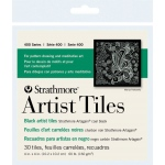 "Strathmore® Artagain® 4"" x 4"" Coal Black Artist Tiles; Color: Black/Gray; Format: Tile; Size: 4"" x 4""; Texture: Medium; Type: Mixed Media; Weight: 60 lb; (model ST105-979), price per pack"