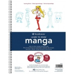 """Strathmore® 200 Series Learning Series Pad Learn Manga; Format: Book; Page Count: 40 Pages; Size: 9"""" x 12""""; (model ST25-051), price per pad"""