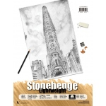 "Stonehenge® 9"" x 12"" Versatile Artist Paper Pad Lightweight White; Color: White/Ivory; Format: Pad; Material: Cotton; Size: 9"" x 12""; Texture: Vellum; Weight: 135 gsm; (model L21-STP135WH912), price per pad"
