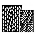 Ranger - Dyan Reaveley - Dylusions - Stencils - Raindrops Large