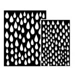 Ranger - Dyan Reaveley - Dylusions - Stencils - Raindrops Small
