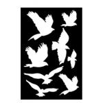 Ranger - Dina Wakley Media - Stencils - Flying Birds Masks