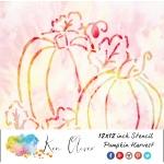Ken Oliver - Stencil - 12x12 - Harvest Pumpkins