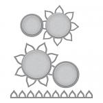 Spellbinders - Shapeabilities - Sunflower Photo Holder Die