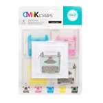 We R Memory Keepers - CMYK - Stamp Kit - Typewriter