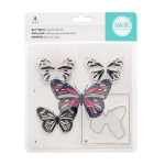 We R Memory Keepers - CMYK - Stamp Set  - Layered Stamp - Butterfly