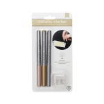 American Crafts - Metallic Markers - Fine Point with Extra Nibs- 3 Pack