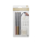 American Crafts - Metallic Markers - Broad Point with Extra Nibs - 3 Pack