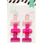 American Crafts - Heidi Swapp - Bulldog Clips 1in 6 Pack Pinks