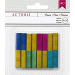 American Crafts - DIY Shop - Mini Stapler Refill Staples 1,600 Pack Basic Colors