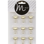 American Crafts - Heidi Swapp - Minc - Binder Clips 9 Pack Gold