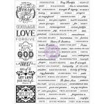 Prima - Love - Faith - Scrap Planner - Stickers - Words