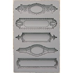 Prima - Iron Orchid Designs - Vintage Art Decor Mould - 5inX8in - Object Labels #2