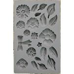 Prima - Iron Orchid Designs - Vintage Art Decor Mould - 5inX8in - Rustic Fleur