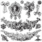 Prima - Iron Orchid Designs - Decor Clear Stamps - 12x12 - Swags