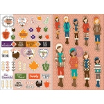 Prima - Julie Nutting Planner -  Monthly Stickers - 2 Pack - November