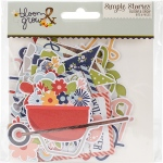 Simple Stories - Bloom & Grow - Bits & Pieces Cardstock Die Cuts