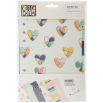 Simple Stories - Posh - Double Sided Dividers A5 6 Pack Foil Accents