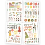 Simple Stories - Reset Girl -  Stickers 4x6 8 Pack Icons - 4 Designs/2ea