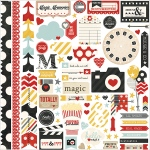 Simple Stories - Say Cheese - Cardstock Stickers 12x12 - Fundamentals