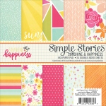 Simple Stories - Double Sided Paper Pad - 6x6 24 Pack Sunshine & Happiness - 12 Designs/2 Each