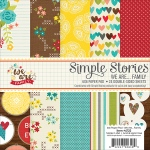 Simple Stories - Double Sided Paper Pad - 6x6 24 Pack We Are Family - 12 Designs/2 Each