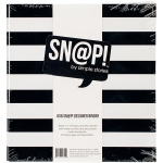 Simple Stories - Sn@p! Designer Binder 6inX8in - Black Stripe