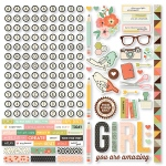 Simple Stories - The Reset Girl -  Cardstock Stickers 12x12 - Combo