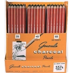 General's® Charcoal Pencil Display: Black/Gray, Pencil, (model 557AD), price per each