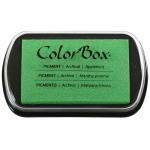 "ColorBox® Full Size Ink Pad Applemint: Green, Pad, Pigment, 2 1/2""l x 4""w x 1/4""h, (model CS15234), price per each"