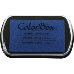 "ColorBox® Full Size Ink Pad Tide: Blue, Pad, Pigment, 2 1/2""l x 4""w x 1/4""h, (model CS15236), price per each"
