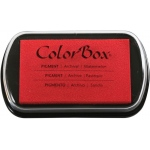 "ColorBox® Full Size Ink Pad Watermelon: Red/Pink, Pad, Pigment, 2 1/2""l x 4""w x 1/4""h, (model CS15237), price per each"