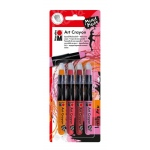 Marabu Art Crayons Lovely Red: Set Of 4, Model M01409000202
