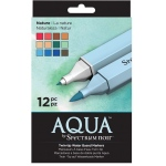 Spectrum Noir™ Twin-tip Water Based Markers 12-Set Nature: Double-Ended, Water-Based, Dual, (model S-AQUA-NAT), price per set