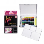 Koi™ Watercolor Paint Pocket Field Sketch 30-Color Set: Multi, Paint, Watercolor, (model XNCW-30N), price per set
