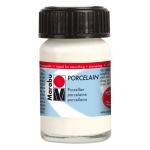 Marabu Porcelain Paint White 15ml: White/Ivory, Jar, 15 ml, Porcelain, (model M11059039070), price per each