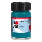 Marabu Porcelain Paint Petrol 15ml: Blue, Jar, 15 ml, Porcelain, (model M11059039092), price per each