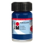 Marabu Porcelain Paint Night Blue 15ml: Blue, Jar, 15 ml, Porcelain, (model M11059039293), price per each