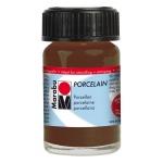 Marabu Porcelain Paint Cocoa 15ml: Brown, Jar, 15 ml, Porcelain, (model M11059039295), price per each
