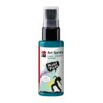 Marabu Art Spray Petrol: Blue, Bottle, 50 ml, Acrylic, (model M12099005092), price per each