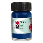 Marabu Glas Paint Night Blue 15ml : Blue, Jar, 15 ml, Glass, (model M13069039293), price per each