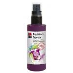 Marabu Fashion Spray Aubergine 100ml : Purple, Bottle, 100 ml, Fabric, (model M17199050039), price per each