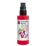 Marabu Fashion Spray Red 100ml: Red/Pink, Bottle, 100 ml, Fabric, (model M17199050232), price per each