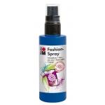 Marabu Fashion Spray Marine Blue 100ml : Blue, Bottle, 100 ml, Fabric, (model M17199050258), price per each